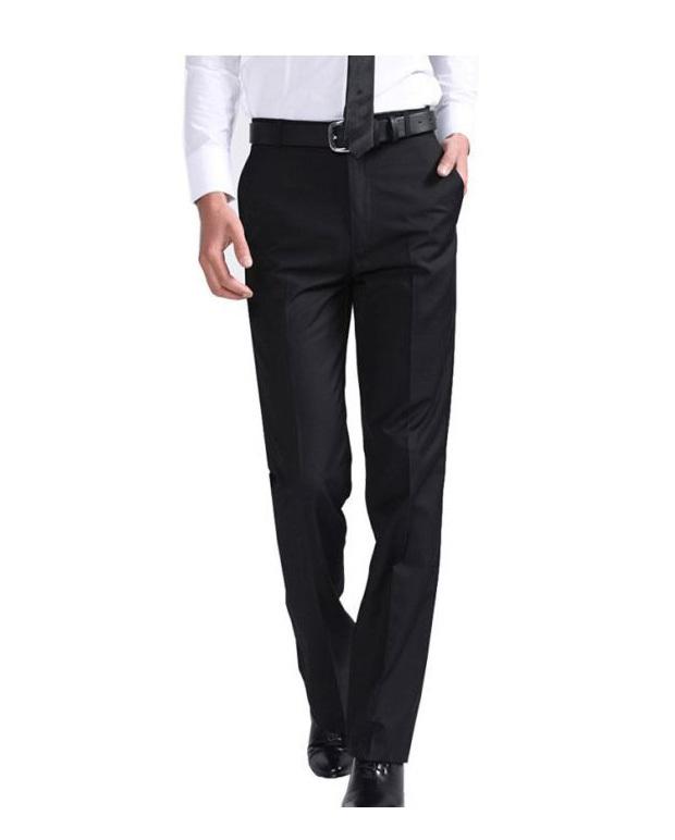 Plus Size 29-40 Easy Care Men Black Wedding Pants Casual Office Mens Business Trousers Straight Suit Pantalones Hombre - Formen Garment Group store