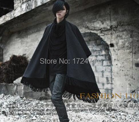 Fashion Harajuku 2015 Gothic Tassel Mens Waistcoats Men's Vests Freestyle Sleeveless Vest Jacket Men Clothing Shawl ,free ship(China (Mainland))