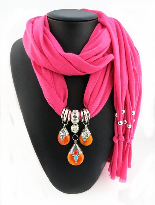 2016 Top Popular Costume Jewelry Scarfs Fashion Grape Drop Pendant For Scarf Women New Year Gift Rose Green Necklace scarves(China (Mainland))