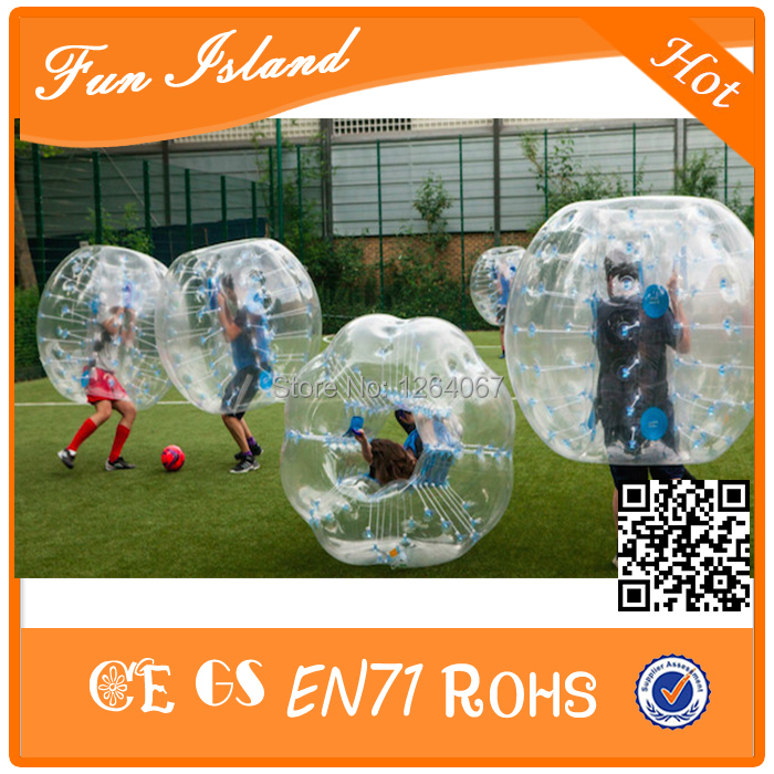 10PCS(5Blue+5Red+2Blower) Free Shipping 1.5M Bubble Soccer With 0.8mm, Inflatable Bubble Ball Suit, Zorbing Ball, Zorb Football(China (Mainland))