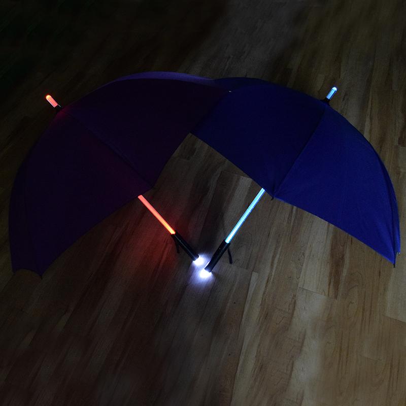 Hand Torch Fashion Straight Pole Light Led Umbrella Long Handle LED Umbrella Flashlight Umbrellas 1Pcs Free Shipping(China (Mainland))
