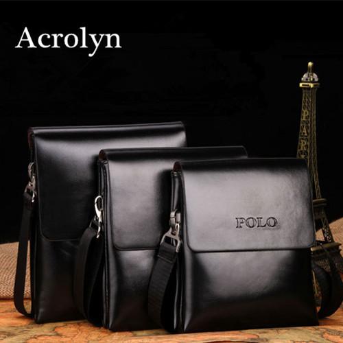 Genuine Leather Bag Men Messenger Bags Man Handbag Fashion Double Pocket Shoulder - Acrolyn Store store