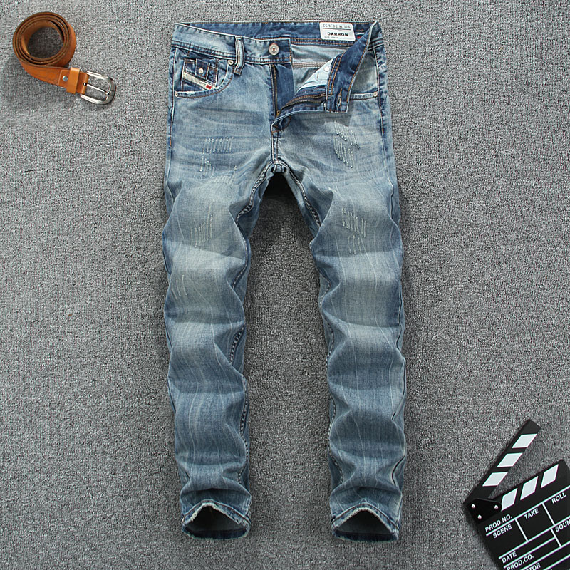Italian Dsel Brand Men Jeans High Quality Fashion Designer Ripped Jeans For Men Printed Jeans White Washed Blue Color Size 29-38Одежда и ак�е��уары<br><br><br>Aliexpress