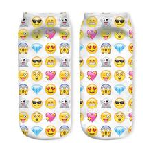 New 3D Printed Emoji Heart Women Socks Cute Low Cut Ankle Sock Multiple Colors Fashion Style CW159