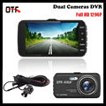 4 0 inch IPS Screen Car DVR Recorder 1296P Full HD Dash Cam Dual Lens Car