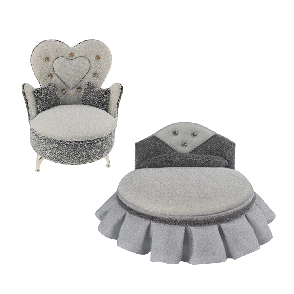 1/6 Dollhouse Bed Sofa Armchair Furniture for Hot Toys Figures   Blythe BJD Dolls Accessories Decoration
