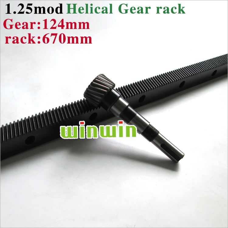 CNC Plasma Helical Gear Rack 22 x 25 Length 670mm / 31.42'' Mod 1.25 - 22mm 45# Steel Black Oxied Drill Holes From CNC Modulkit(China (Mainland))