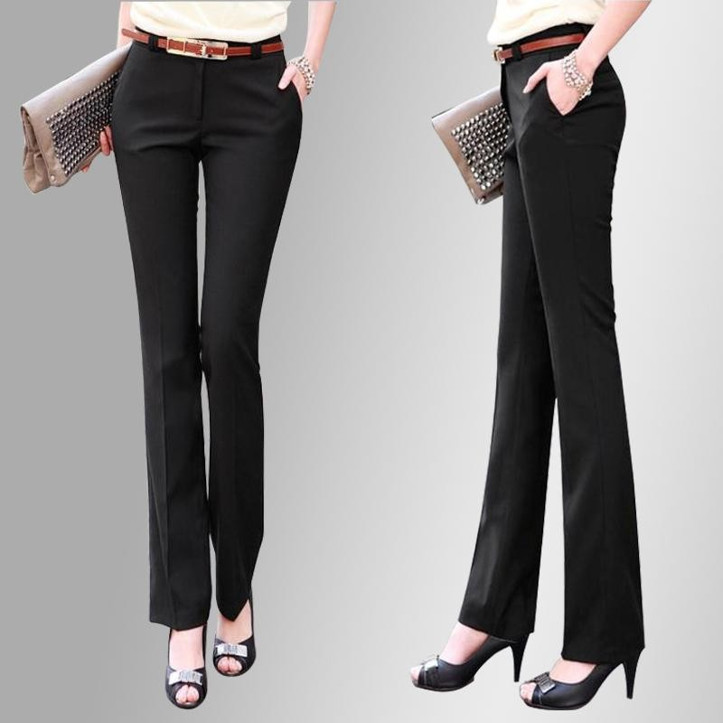 Lastest Formal Office Lady Women Full Length Straight Leg Pencil Pant Jeans