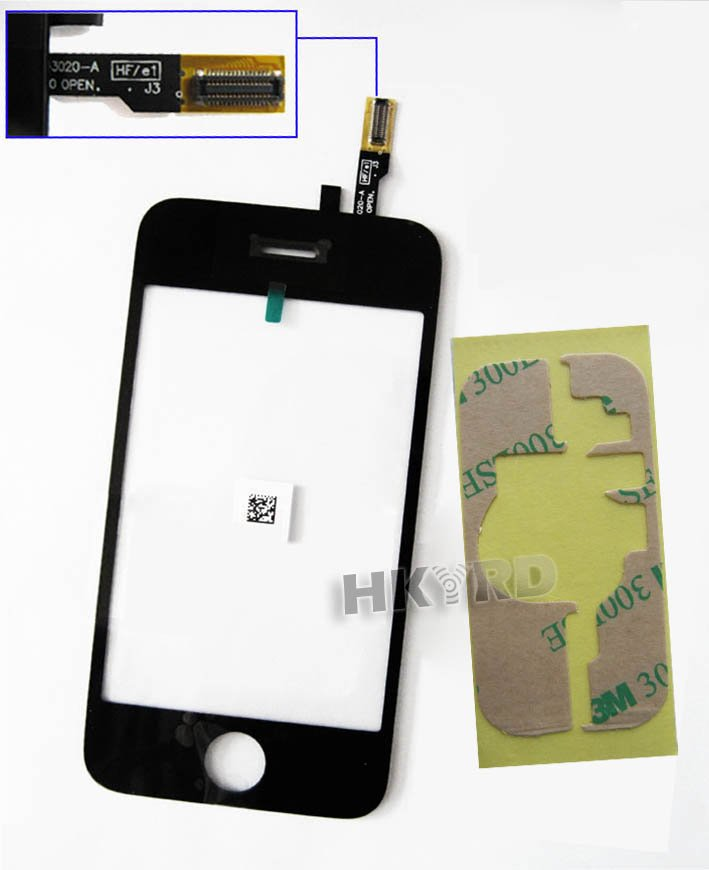 Replacement Touch Screen Digitizer+Adhesive for iPhone 3GS B0012+E4001 P(China (Mainland))