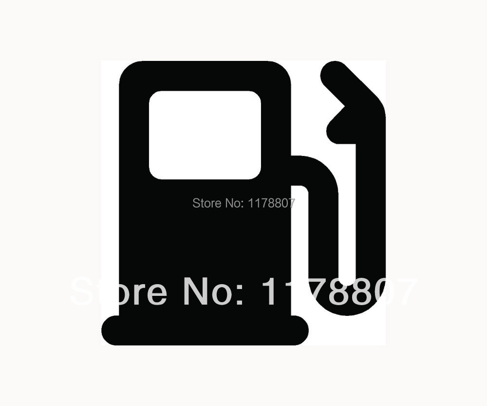 Wholesale GASOLINE Icon Sticker for Car Vinyl Window Gas Decal Laptop Fun Diesel Octane Price(China (Mainland))