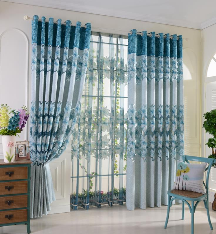 Home decoration curtains for windows burnt tulle curtain 3 for M s living room curtains