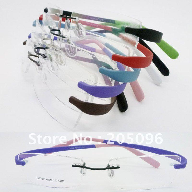 Ultra Lightweight Eyeglass Frames : wholesales TR002 unisex bendable rimless ultra lightweight ...