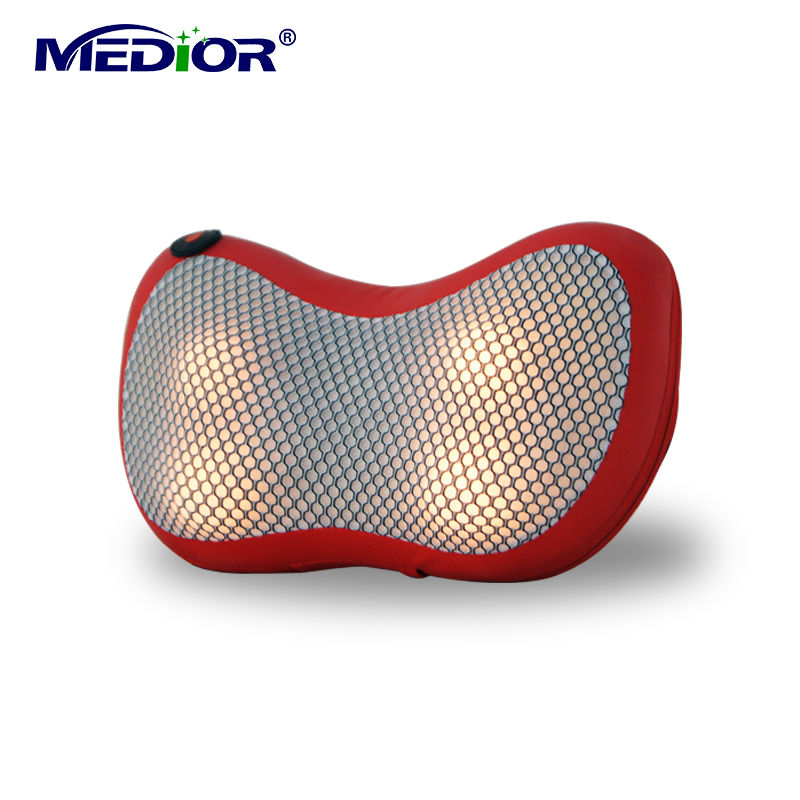 Shiatsu Massager Pillow with Heat Kneading Pillow Massager Machine for Neck Back Leg Massage for Personal Health Care 80160(China (Mainland))