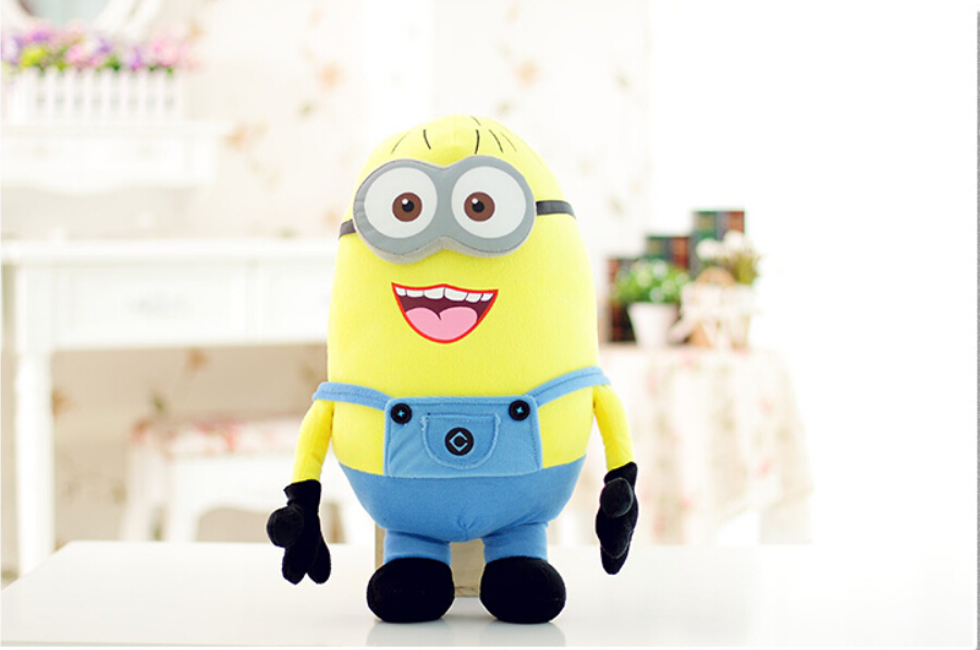 Гаджет  Baby plush toys plush toysHigh quality 25 cm new toy Despicable Me Minion Jorge 3D eyes and tags Dave Stewart None Игрушки и Хобби