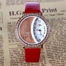 Marca mujeres rhinestone mira el cristal de lujo de la torre Eiffel mujeres del reloj para mujer de moda los relojes del cuarzo