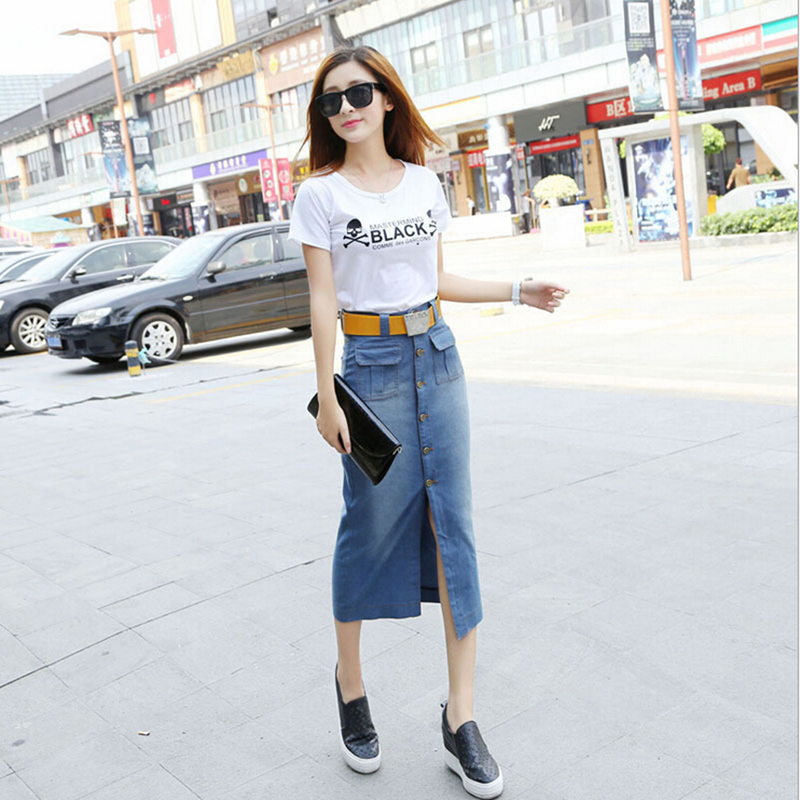 Compare Prices on Straight Denim Skirt- Online Shopping/Buy Low ...