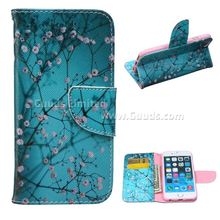 For iphone6s case Blue Plum Leather Wallet Case for iPhone 6s (4.7 inch) FREE SHIPPING