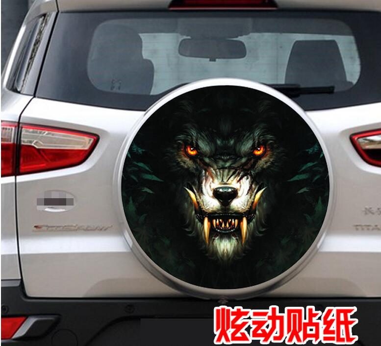 After the spare tire spare tire stickers car stickers stickers totem Langtou For Toyota RAV4 spare tire cover Tiggo wing blog(China (Mainland))