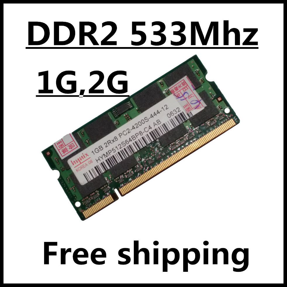 Sale ddr2 533 1gb 2gb 4gb pc2-4200 sodimm laptop, ram ddr2 533 2gb pc2-4200S dimm notebook, memory ram ddr2 2g 533mhz sdram(China (Mainland))