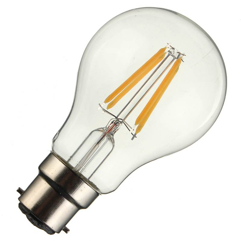 B22 A60 2W 4W 6W 8W Pure Warm White LED COB Edison Globle Flame Retro Vintage Filament Light Lamp Bulbs Non Dimmable AC220V(China (Mainland))