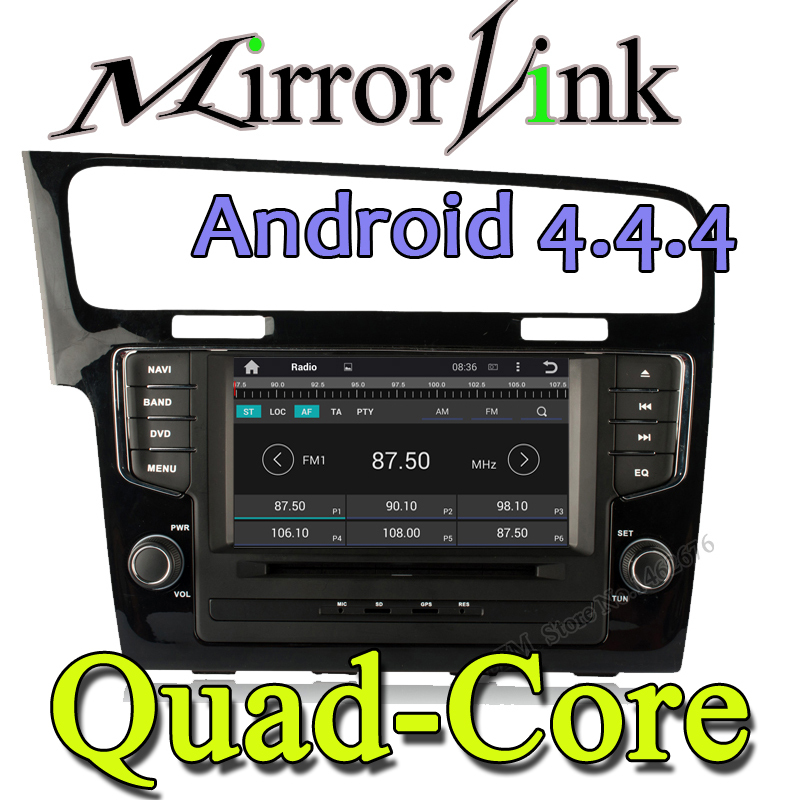 Quad Core Double 2 din Car DVD Player GPS Navigation for New Golf 7 20132015 In dash Car PC Stereo Head Unit video+Free Map&Card(China (Mainland))