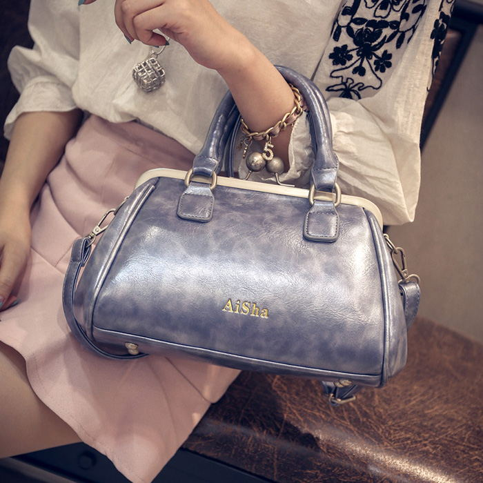 European and American style of women handbags grip bag pu leather shoulder messenger bag Feminina female family(China (Mainland))