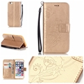 Luxury 3D Embossing Flower PU Leather Case for iPhone 4 4S 5 5S SE 5C 6
