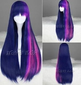 Twilight Sparkle My Little Pony Long Straight Multi-color Cosplay Wig