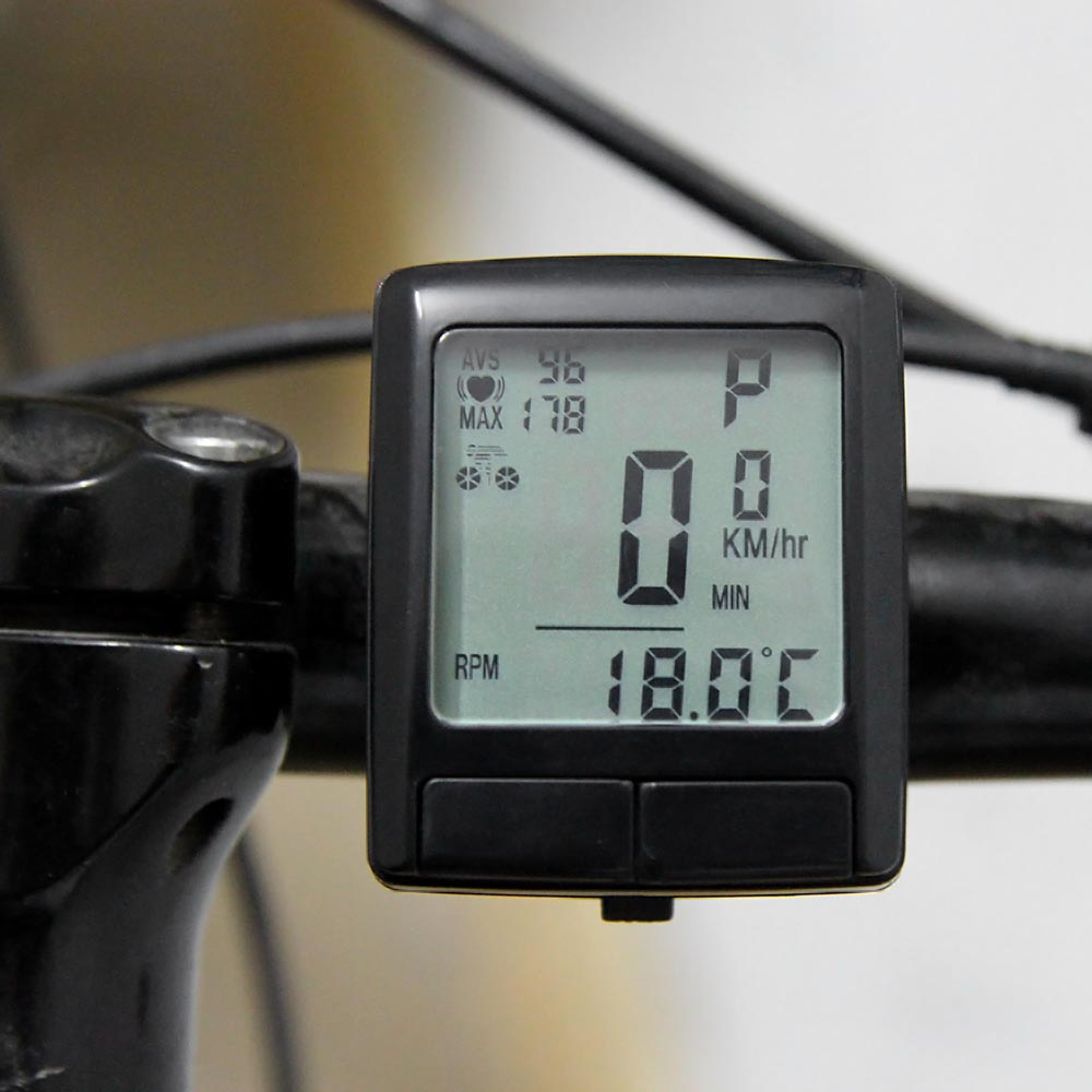 LCD Bike Cycling Computer Odometer Bicycle Speedometer with Wireless Heart Rate Monitor Tester Chest Strap Bicycle Accessories(China (Mainland))