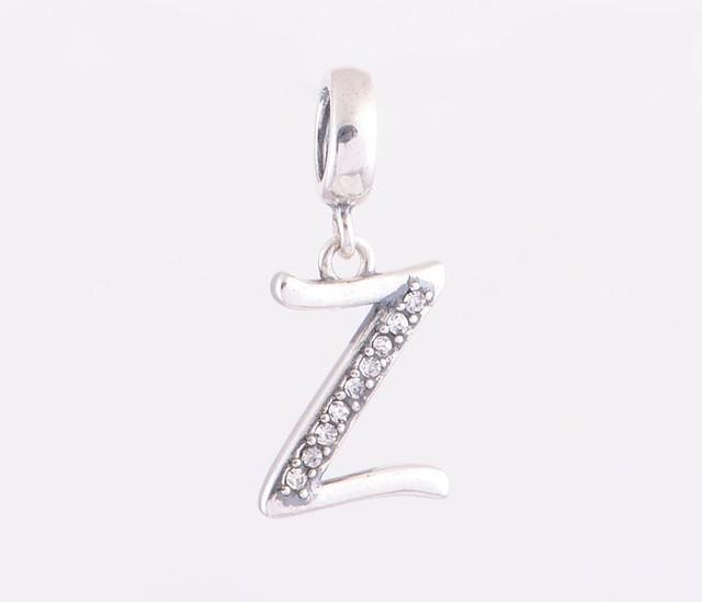 """Мода письмо """" Y """" европейские подвески стерлингового серебра 925 бусины кулон с кристалл ювелирных изделий DIY подходит для Chamilia стиль браслет"""