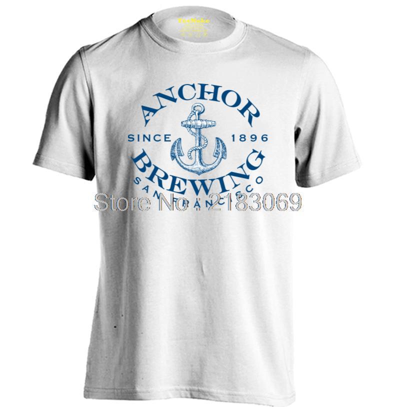 anchor brewing san francisco Mens & Womens Fashion Casual T Shirt Custom T Shirt(China (Mainland))
