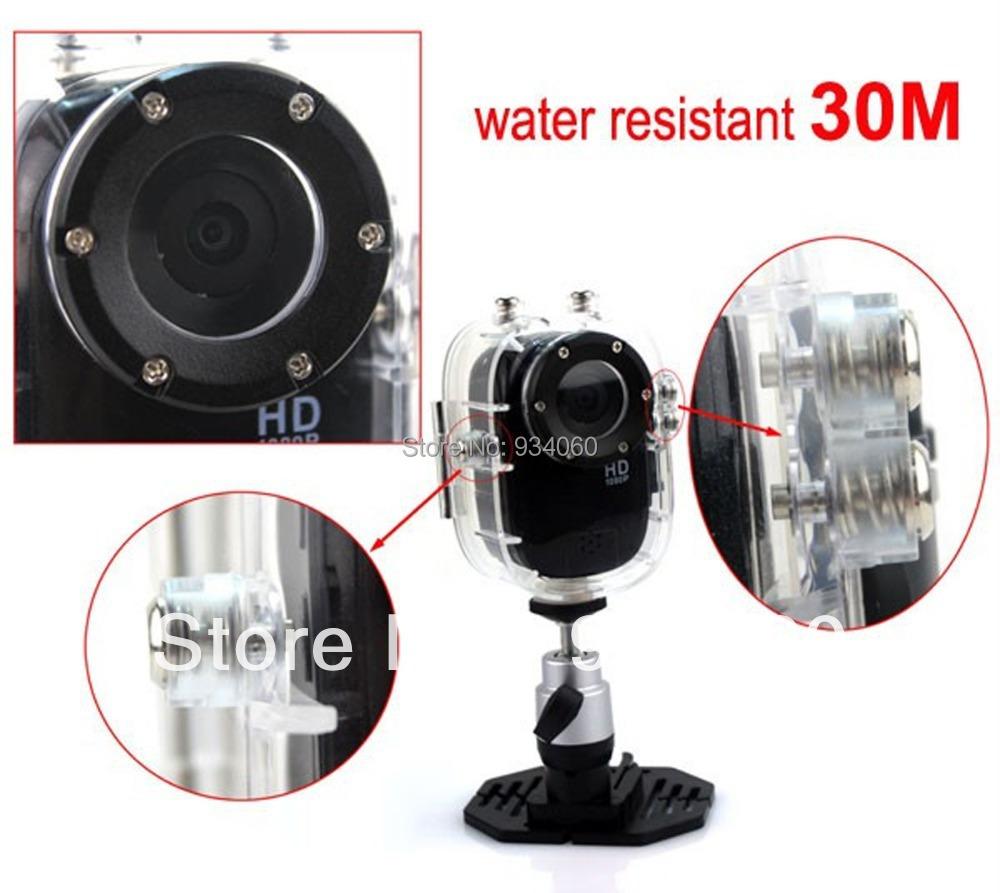 Free Shipping! Full HD 1080P Sport Helmet Outdoor Camera DV1000 Underwater 30m Mini DV Camcorder H.264 1920*1080p,140Wide Angle(China (Mainland))