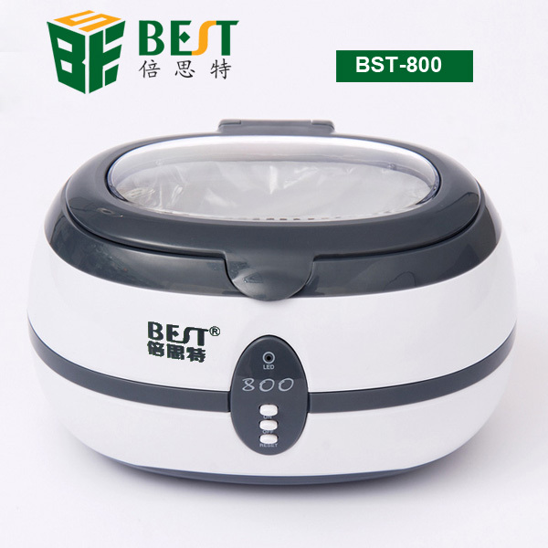 BEST-800 Mini Ultrasonic Cleaner 0.6L for Watch Jewelry Eyeglass Denture CD Cleaner(China (Mainland))