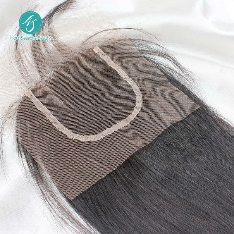 3 Parts Lace Closure Straight Hair Closure 4X4 size Swiss Lace Full Thick Free Fast Shipping Peruvian Virgin Hair Straight