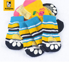 4pieces/set Pet products dog winter boots socks lovely doggy socks