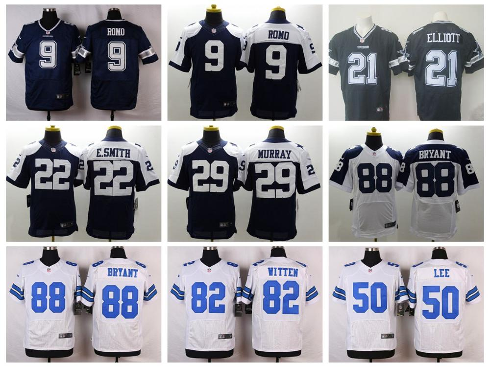 100% Stitiched,Dallas Cowboys,Tony Romo,Emmitt Smith,Sean Lee,Jason Witten,Dez Bryant,Ezekiel Elliott,customizable(China (Mainland))