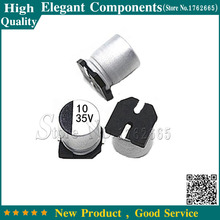 Buy 20PCS 35V 10UF 10UF 35V Aluminum electrolytic capacitor 35 V 10 UF Szie 5*5.4mm NEW Electrolytic capacitor FREE SHIPPING for $1.26 in AliExpress store