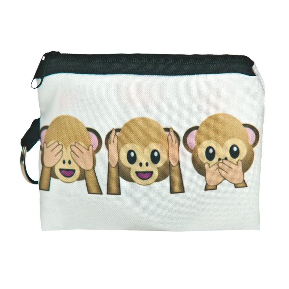 1 шт. 3D печать портмоне новый милый кот молния чехол женский макияж багги сумка бумажник / ребенок мешка прямая поставка