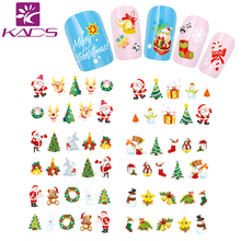 HOTSALE BJC026 Christmas water sticker Tip Nail Art Nail Sticker Nail Decal Manicure Mix Color nail tools+freeship
