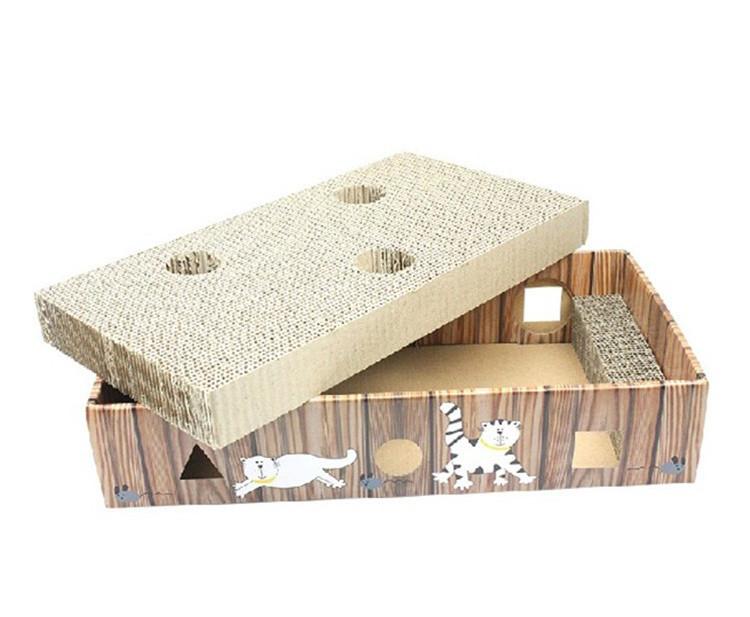 Round Corrugated Cardboard Cat Scratching station