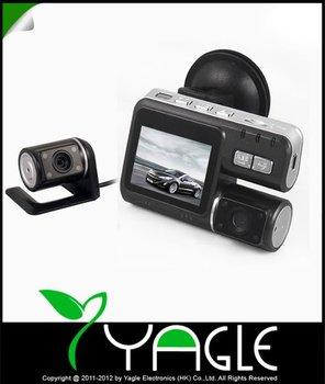 Original HD 720P 2.0'' Dual lens Car Dash Camera Video Recorder DVR Cam G-sensor  Remote Control ,With Micro SD Card Bundle Sale