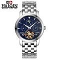 HAIQIN 2017 Top Brand Luxury Sapphire Waterproof 100m Tourbillon Automatic mechanical watch casual mens watch relogio