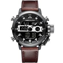 MEGALITH mode hommes Sport Quartz montre hommes multifonction étanche lumineux montre-bracelet hommes double affichage horloge Horloges Mannen(China)