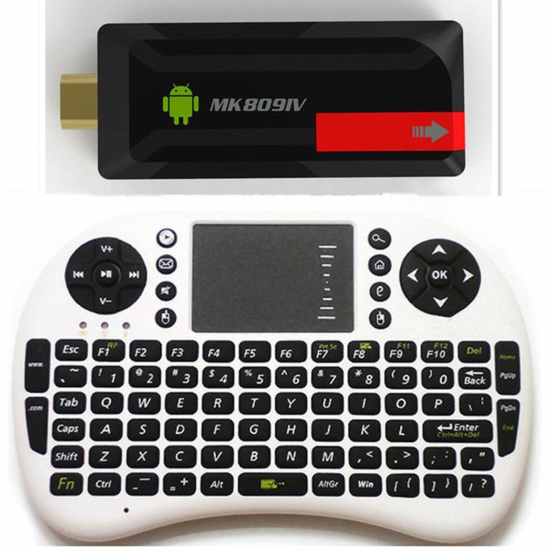 2G RAM 16G ROM MK809IV TV Stick+Air mouse UKB-500 RK3188T Quad Core 1.5GHz TV Stick Kodi 15.0 add ons pre installed media player(China (Mainland))