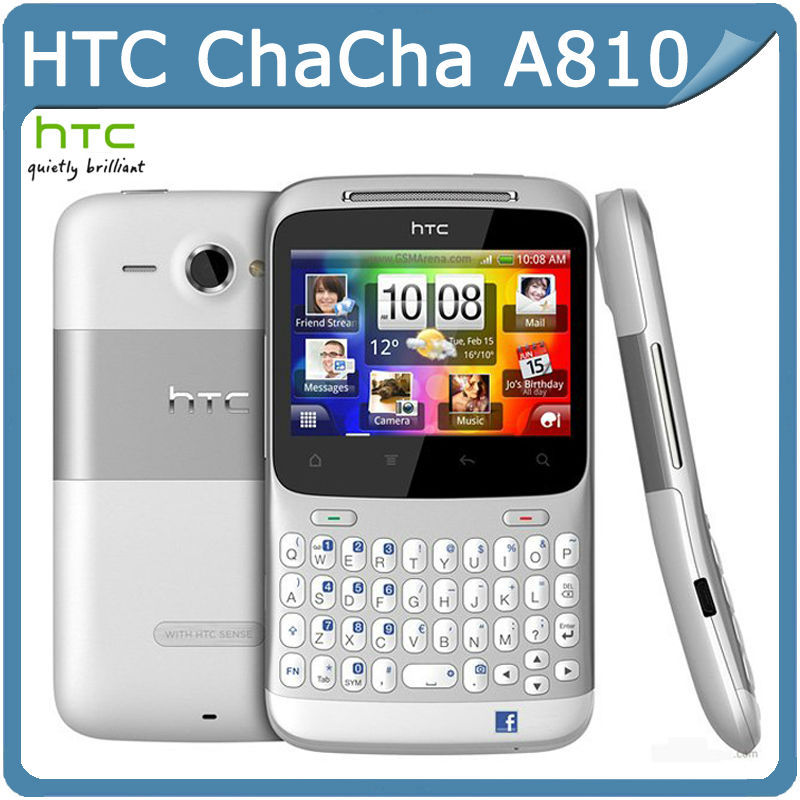 G16 Original HTC ChaCha A810 Android 2.3 GPS WIFI 5MP TouchScreen QWERTY Keyboard Unlocked Cell Phone Refurbished Refurbished(China (Mainland))