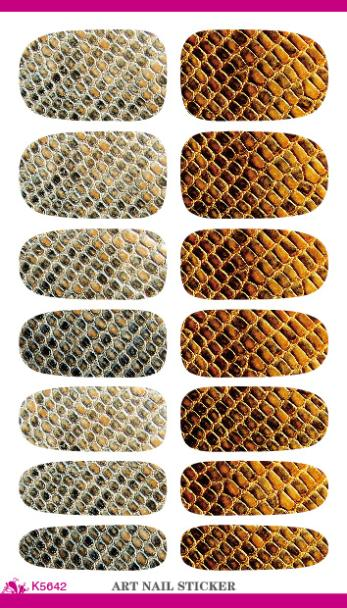 K5642 Vintage Water Transfer Nail Art Sticker 3d Design Serpentine Nail Decal Metal Gold Manicure Decor Tool Nail Wraps Cheap(China (Mainland))