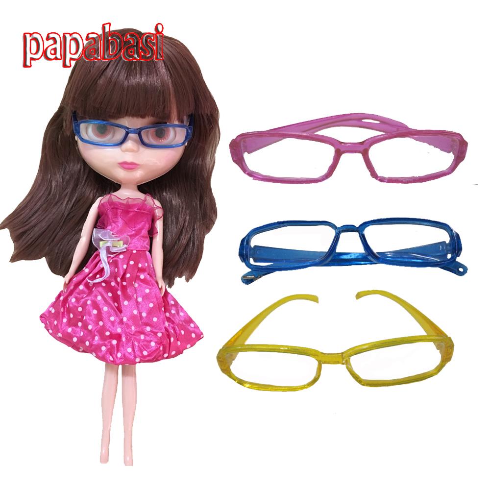 Papabasi 3pcs Fashion Doll accessories DIY Glasses for 1 / 6 BJD Blyth Doll Free shipping(China (Mainland))