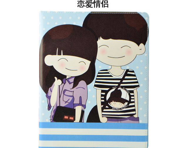 fashion charactor  cases and bags  for ipad  2/3   mini ipad  . free shipping   case for apple tablet pc