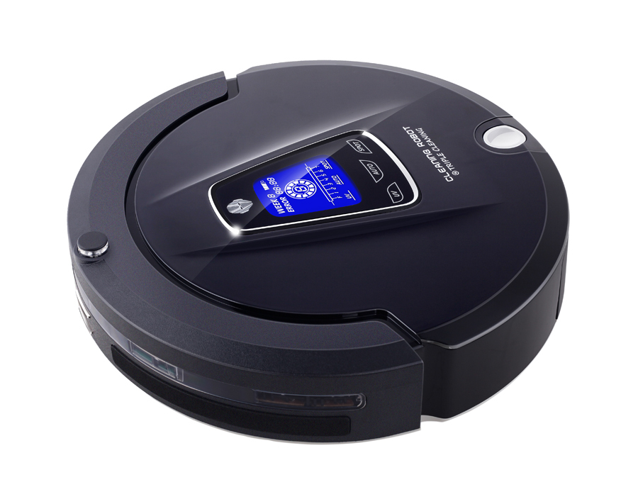 Free Shipping 2015 Multifunction (Sweep,Vacuum,Mop,Sterilize) Household Bagless Vacuum Cleaner Robot With Schedule, LCD Touch(China (Mainland))