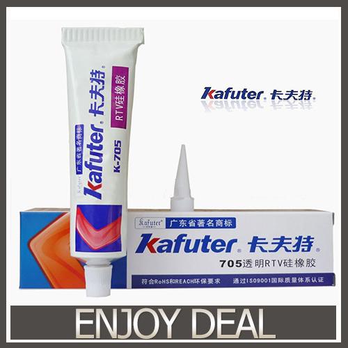Free shipping 2pcs/lot Genuine Kafuter k-705 RTV Silicone Rubber Electronic Glue Sealant Transparent Organosilicon 45g(China (Mainland))